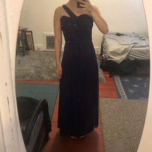 Blonde Nites Purple Gown